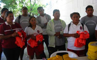 Cozumel lifeguards received equipment donations from ACS, Club Tortuga and other individual and business donors to increase safety for vacationers and residents of Cozumel - January 2005.