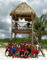 Cozumel lifeguards at Chen Rio