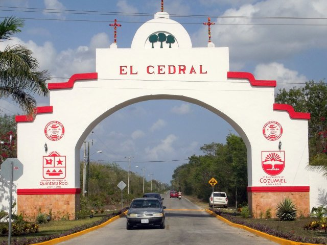 Entrance to El Cedral - Welcome to the Cedral Festival