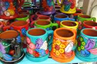 Colorful hand painted mugs!