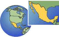 North America - Mexico Highlighted