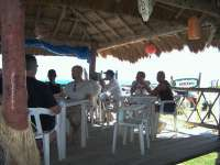 Enjoy  lunch at a nice open air beach restaurant!