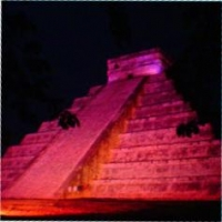 Spectacular Chichen Itza at night!