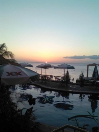 Sunset @ No Name Sports Bar Cozumel