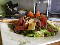 Salad with Proscuitto, Brie and Pecan - DELISH!