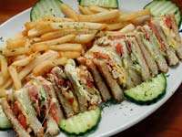 Club Sandwich & Fries!