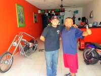 Mike & Manny Ready to Show You Cozumel on a Harley
