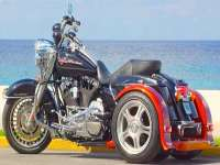 Harley Black Shark Trike - Ride in STYLE!