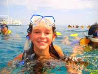 Smiles All Around with Our Glass Bottom Snorkelers