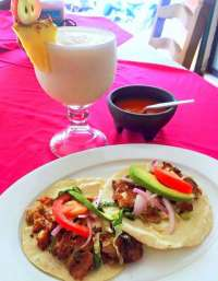 Pina Colada and Tacos - So Tasty and Refreshing!