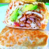 Try the New Pork Milanese Burrito - YUMMY!