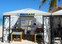 Massage on the Beach.  Now that is a Vacation!